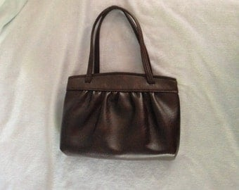 Vintage Brown Leather Purse, Handbag