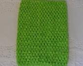 "Lime Green Crochet Tutu Tops- Crochet Headbands 8"""