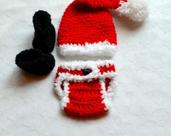 Baby Boy Christmas Outfit. Baby Boy Santa Outfit