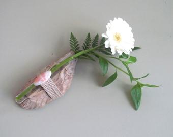 Driftwood Wall Hanging Bud Vase - Fragment Vase, Driftwood Vase, Driftwood Wall Hanging Flower Vase, Driftwood Art