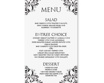 microsoft word party template menus wedding