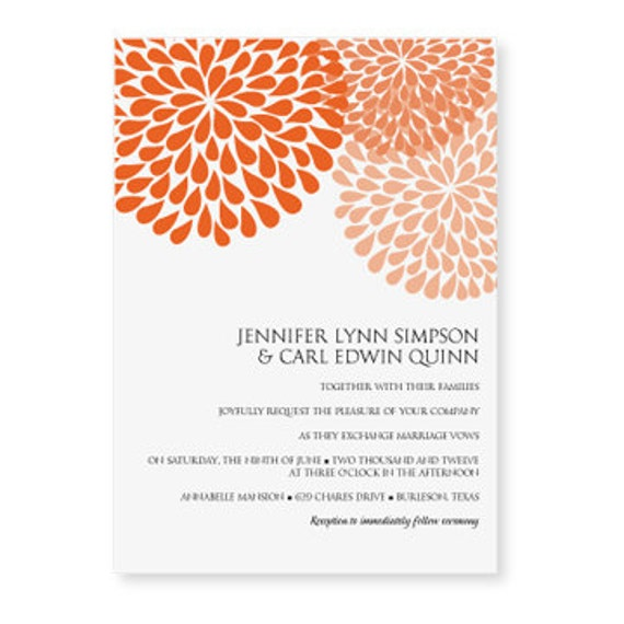 Wedding Invitation Template DOWNLOAD INSTANTLY By