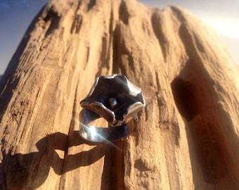 Sterling Silver organic  ring
