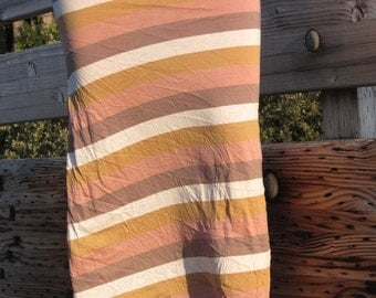 STRIPE knit boho beach festival resort stripe maxi pencil tube skirt with side drawstring