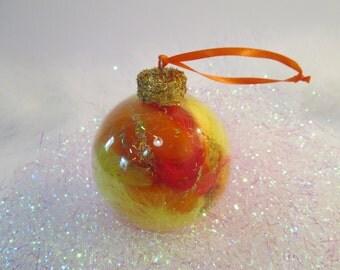 Glitter Ornaments, Fall Decor, Glass Ornaments, Autumn Decor, Feather Decor, Fall Decorations, Christmas Ornaments, Orange Decor