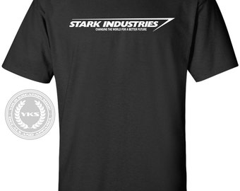 Stark Industries T-Shirt Iron Man Tony Stark Tee Shirt Marvel S-5XL