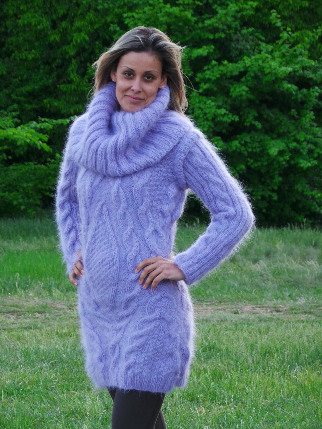 Made To Order Thick Hand Knit Sweater Fuzzy Sexy Mohair