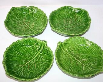 Set Super large Old Ceramic  Dishes In A Cabbage design With Ware / MEMsArtShop.