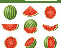 Watermelon Clipart. Fruits Clipart. Food Illustration. 063