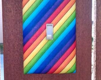 Rainbow Stripe Light Switch Cover