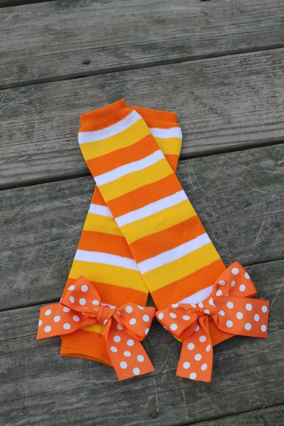 Halloween Leg Warmers Fall Leg Warmers Candycorn Leg