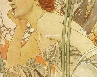 "Counted Cross Stitch Pattern ""Alphonse Mucha"""