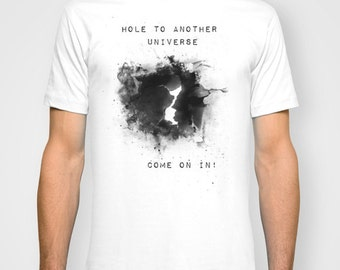 Hole to another Universe Men T-Shirt / T Shirt for Men / Men's Clothing / Men's Shirts / Astrological Symbols