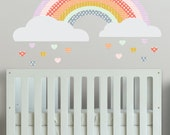 Girls Rainbow  - WALL DECAL- Removable Wall Decal - Self Adhesive Vinyl