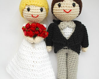 Items similar to Bride and Groom Dolls - Wedding ...