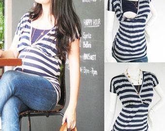 DANA Top Maternity Clothes/ Nursing Tops/ Breastfeeding Shirt/ Maternity Clothing /NEW Original Design Nursing Clothes