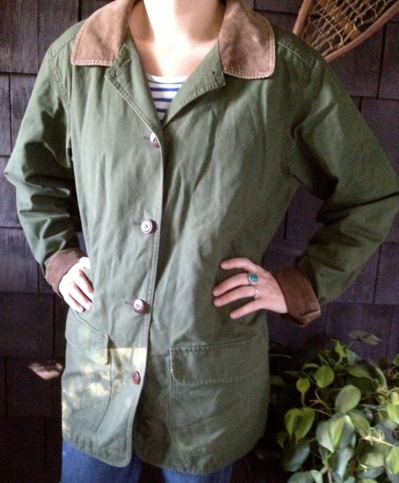 vintage ll bean barn jacket s size large