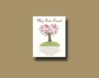 Wedding Gift For Special Friend : Best Friend GiftPersonalized Gift for Special Friend, Wedding Gift ...