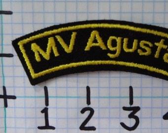 "Vintage ""MV Agusta"" Motorcycle Patch (001)"