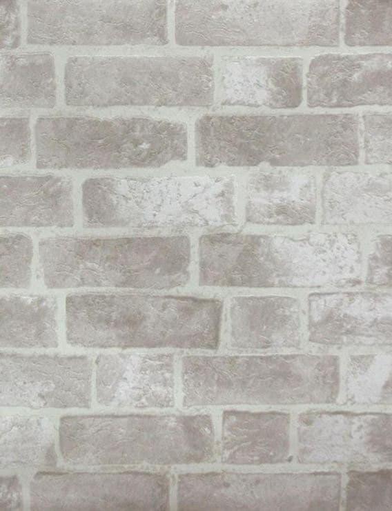 fausse brique gris vieilli et mur de mortier off white. Black Bedroom Furniture Sets. Home Design Ideas
