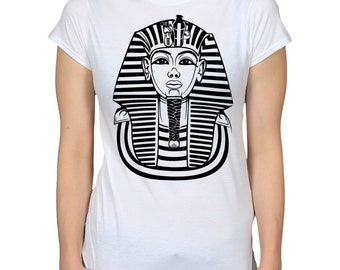 Tutankhamun Graphic Tee, Egyptian Pharaoh T-Shirt