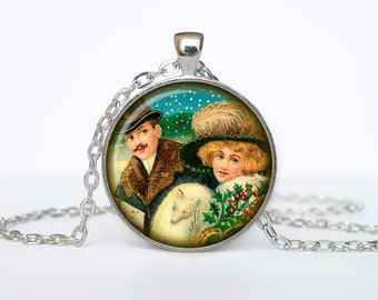 Victorian Christmas Jewelry Christmas Necklace Christmas Gifts New Year Pendant Christmas Jewelry, Xmax Necklace, Xmas Pendant