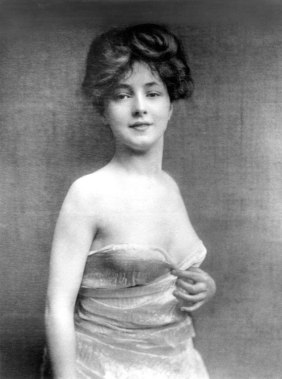 Items Similar To Evelyn Nesbit, Gibson Girl, Vintage Photo -4987