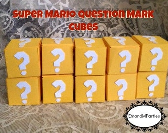 Super Mario Yellow Question Mark Cubes