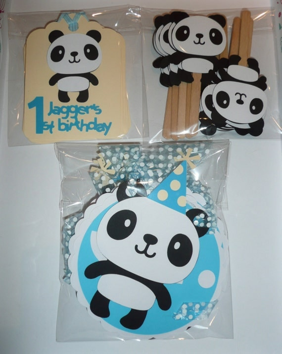 Items Similar To Panda Party Pack Personalised