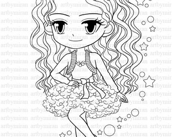 Pretty people free colouring pages for Big girl coloring pages