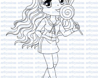 Digi Stamp Sweet Sassy4 Pretty Girl Coloring page