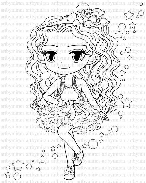 Digital StampStar Pretty Girl