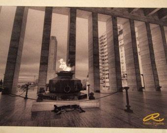 """Photo: Rosario, Argentina (18"""" x 12"""" print) (front signature)"""