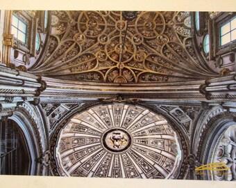 "Photo: Ceilings, Córdoba (18"" x 12"" print) (front signature)"