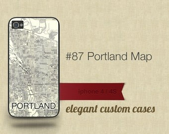 Cell Phone Case Iphone 5 / 5S / 5C 4 / 4S Samsung Galaxy S3 / S4 -Map of Portland Number 87