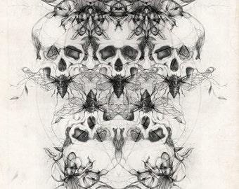 MEMENTO MORI - Skulls vanity - Digital art print