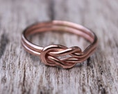 Love Knot Ring 14K Rose Gold Filled Square Knot Nautical Ring Bridesmaid Ring Friendship Ring Celtic Knot