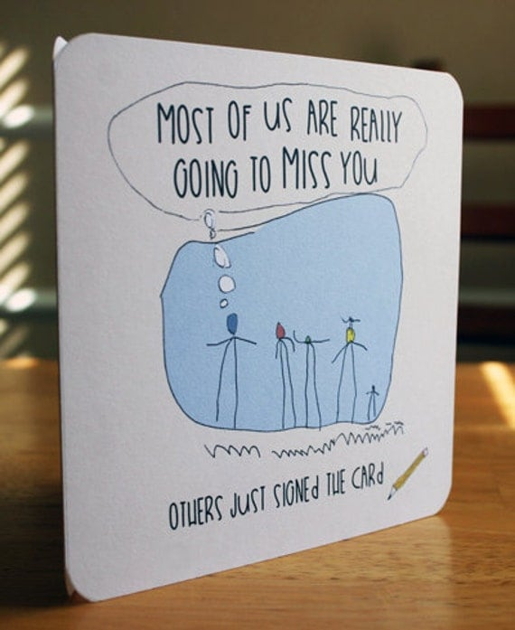 This is a graphic of Sweet Printable Going Away Card
