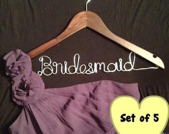 Custom Made Wood Bridesmaid Hanger - Set of 5
