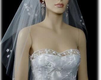 "2 Tier 25""x30""x72"" White or Ivory Cut Edge veil / veils | 2 layer bridal veil | wedding veil"