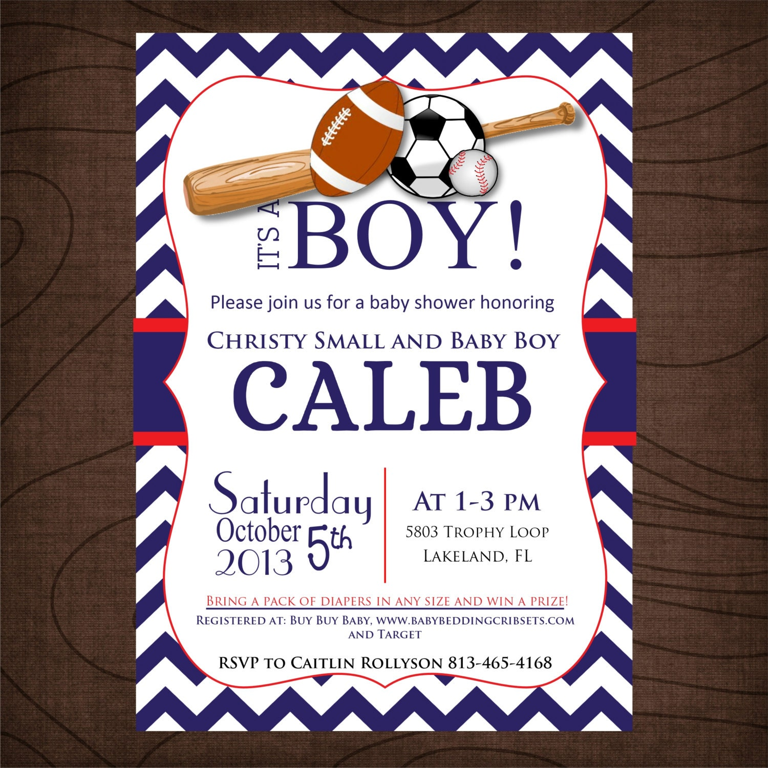 sport baby shower invitations red and blue printable