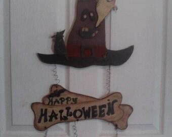 Witch Hat Halloween Door Hanger