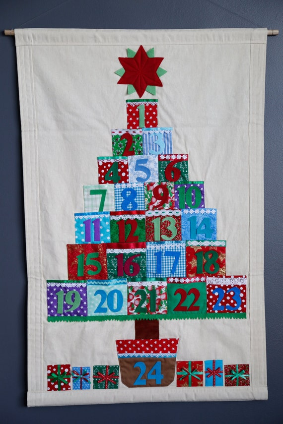 Christmas advent calendar with pockets by