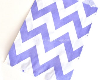 Chevron Favor Bags, 12 Purple Chevron Gift Bags, Popcorn Bags, Cookie Bag, Candy Buffet Bags Candy Bag, Wedding, Baby Shower, Birthday Favor