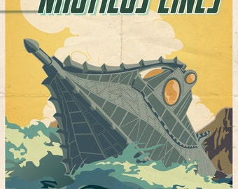 Nautilus Travel Poster