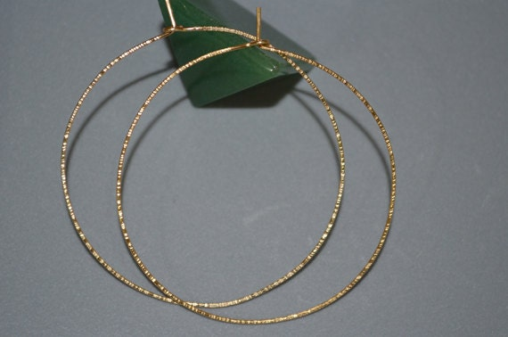 Textured Gold Hoop Earings Extra Hoop Earrings Thin