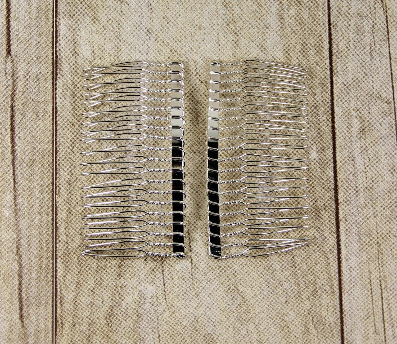 Hair combs diy hair comb 2 3 inch metal hair combs for Metal hair combs for crafts