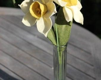 Two daffodil Felt Flower Bouquet