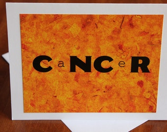Cancer/Chemotherapy Greeting Card - Humourous - Support - Friendship - Laughter Is The Best Medicine - Four-Letter-Word