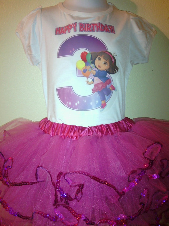 Dora The Explorer birthday Dress 2pc Tutu outfit